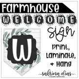 Farmhouse Door or Board Welcome Sign Banner