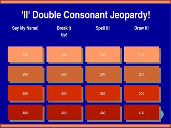 ll Double Final Consonant Jeopardy!