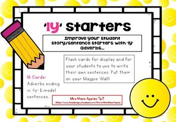'ly' Sentence Starter Flashcards