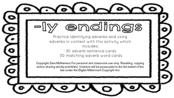 -ly endings (Adverbs)