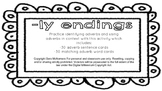 -ly endings (Adverbs)