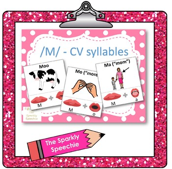 /m/ - CV words, articulation & phonological flashcards