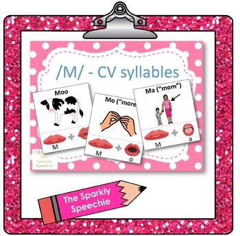 /m/ - CV words, articulation & phonological flashcards