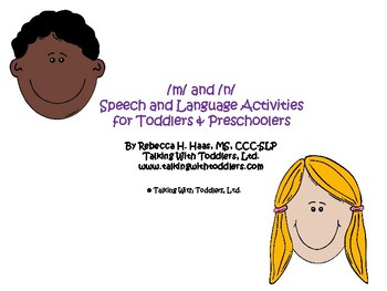 /m/ and /n/ Speech and Language Activities for Toddlers & Preschoolers