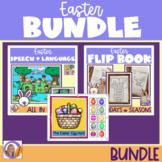 Easter Bundle! Speech & language activities, flip books and interactive book!
