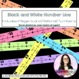 Classroom Number Line Including +-Rational & Integers (B&W)