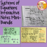Systems of Equations Interactive Notes Mini- Bundle
