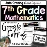 7th Grade Math Google Forms Bundle