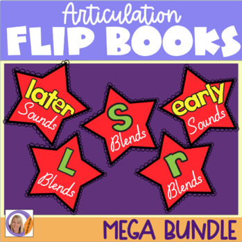 Articulation flip books MEGA Bundle 1! For speech and language therapy