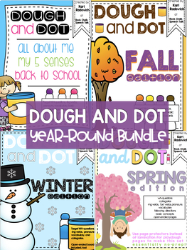 Playdough and Dot Marker Activities Bundle for Speech Therapy