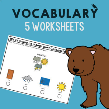 *NO PREP* We're Going on a Bear Hunt Speech Therapy Companion - Vocab - Sequence