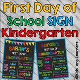 First day of school Signs - kindergarten - PowerPoint Editable