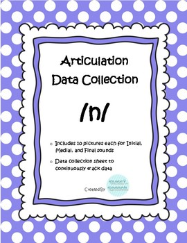 /n/ Articulation Data Collection Progress Monitoring Tool
