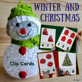 Clip Cards Packet - Numbers, Colors, Letters, Sounds