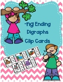 -ng Ending Digraph Clip Cards for Centers, Small Groups, Differentiation