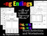 -ng Ending Word Activities and Worksheets