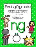 -ng Final Digraph Anchor Chart & Practice {Click File, Print}