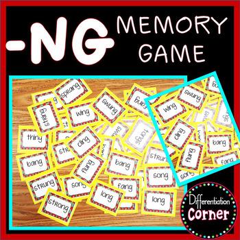 -ng Word Family Game