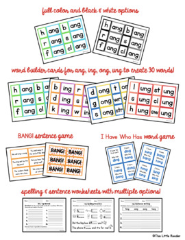 -ng Word Family Word Builder Cards