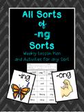 -ng Word Sorts and Activities: -ing, -ang, -ong, -ung