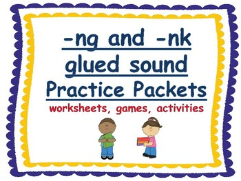 -ng and -nk glued sounds practice packets BUNDLE