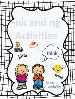 -ng and -nk phonics activities