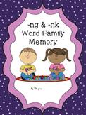 -ng & -nk Spelling patterns Memory K-2 (Bonus***-ng & -nk Bingo***)
