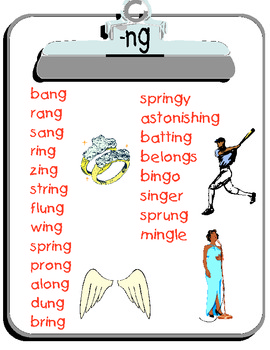 Ng Word List By The Painter People Teachers Pay Teachers