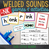 -nk Word Families Word Builder Cards