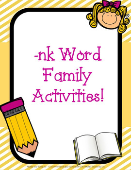 -nk Word Family Activities