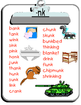 -nk word list