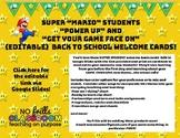 "#nofrillsBTS {Editable} Back to School Super ""Mario"" Students Welcome Cards"