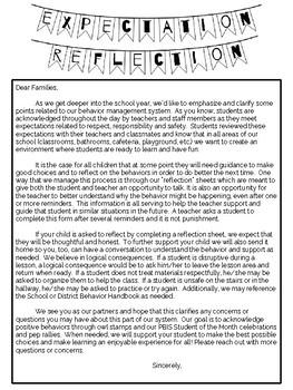 #nofrillsclassroom Expectation Reflection (PBIS, Behavior Management)