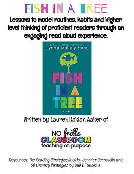 #nofrillsclassroom Fish in a Tree Read Aloud Lessons and Activities