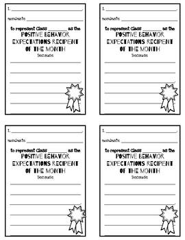 #nofrillsfreebie PBIS (Positive Behavior Intervention Systems) Nomination Forms