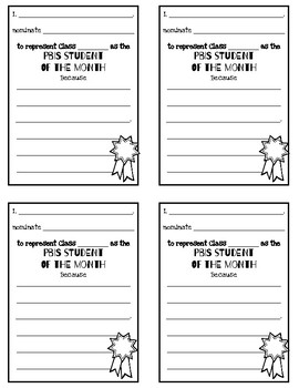 #nofrillsclassroom PBIS(Positive Behavior Intervention Systems) Nomination Forms