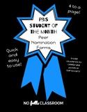#nofrillsclassroom PBIS(Positive Behavior Intervention Systems) Nomination Forms