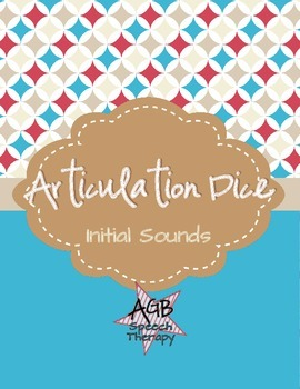 Articulation Dice - Initial Sounds
