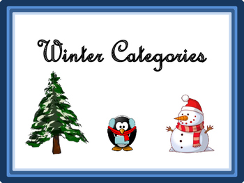 LOW PREP Winter Categories