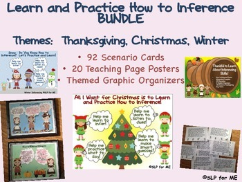 Learn and Practice How to Inference BUNDLE Thanksgiving, Christmas & Winter
