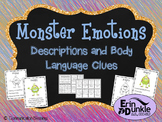 Monster Feelings and Emotions Descriptions and Body Language Cues