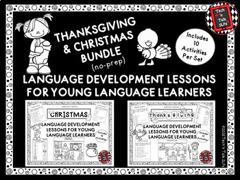 Thanksgiving / Christmas Bundle of Language Lessons for Young Language Learners