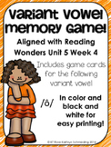 /ô/ Sound Memory Game---Aligned with Reading Wonders Unit 5 Week 4