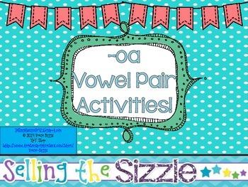 -oa Vowel Pair Activities!