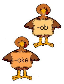 -ob, -oke, -ore, -out Word Family Sort