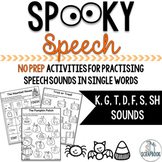 Spooky Speech Games- No Prep- Halloween Themed