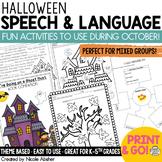 Halloween Articulation and Language Activities BUNDLE