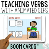Teaching Verbs- Present Progressive Verbs- Boom Cards for