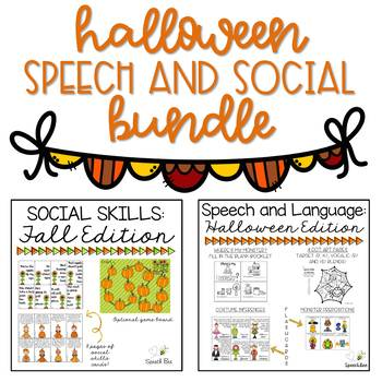 Halloween Speech and Social Bundle