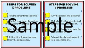 % of Word Problem Tool